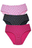 Hanes P188 Women's Hipster Cotton printed Panties [Pack Of 3]-Assorted Printed