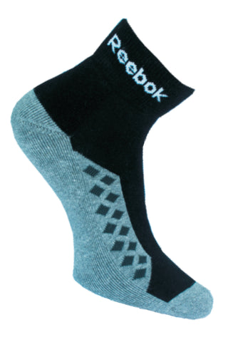 Reebok Pack Of 1 Men's Half cushion Ankle-Black - Grey Heather
