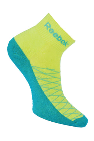 Reebok Pack Of 1 Women's Half cushion Ankle-Hi-Vis Green