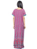 Juliet SCA409358 Women's Full Nighty,Pink Print