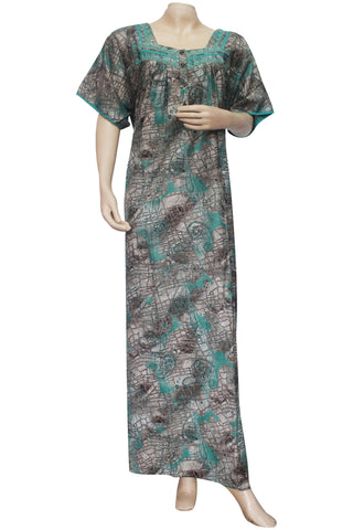 Juliet SCA503507 Women's Hosiery Printed Nighty-Green Print