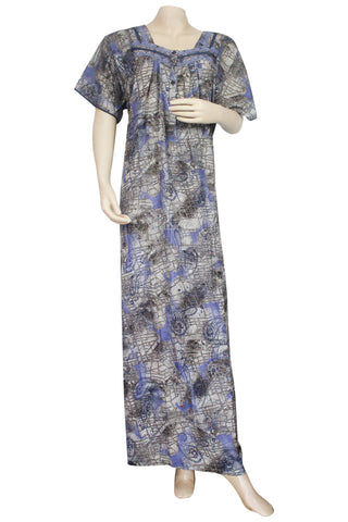 Juliet SCA503507 Women's Hosiery Printed Nighty-Navy Print
