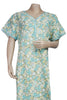 Juliet SCA503536 Women's Hosiery Printed Nighty-Green Print