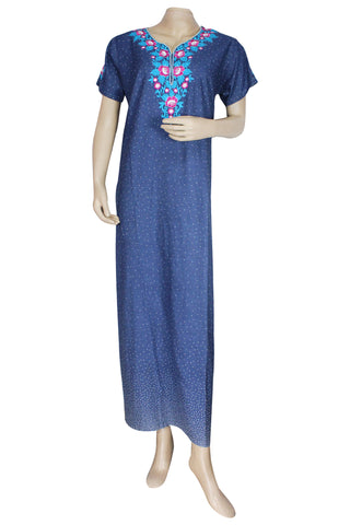 Juliet SCA409174 Women's Hosiery Printed Nighty-Blue Print