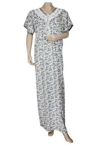Juliet SCS503467 Women's Hosiery Printed Nighty-Blue Print