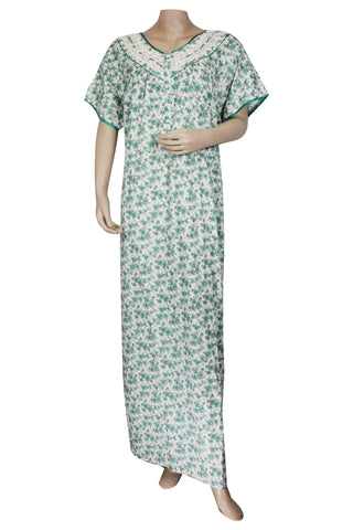 Juliet SCS503467 Women's Hosiery Printed Nighty-Green Print