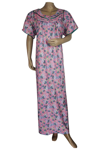 Juliet SCH503471 Women's Hosiery Printed Nighty-Pink Print