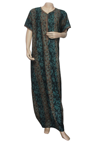 Juliet SCA503506 Women's Hosiery Printed Nighty-Green Print
