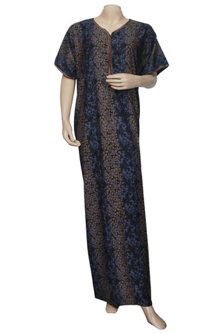 Juliet SCA503506 Women's Hosiery Printed Nighty-Navy Print