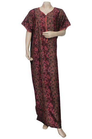 Juliet SCA503506 Women's Hosiery Printed Nighty-Pink Print
