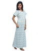 Juliet SCP503492 Women's Full Nighty,Blue Print