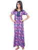 Juliet SNC20696 Women's Fancy Nighty,Purple Print