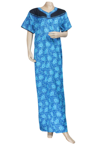 Juliet SNC20733 Women's Hosiery Printed Nighty-Blue Print