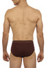 Zoiro Trento 0311 Premium Cotton Mid Rise Brief-Brown - Burgandy