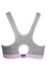 Hanes U200 Venus Women's Cotton Non Padded Sports And T-Shirt Bra-Grey/Pink