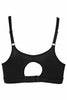 Hanes U203 Amara Women's Cotton Full Figure Sports And T-Shirt Bra-Black