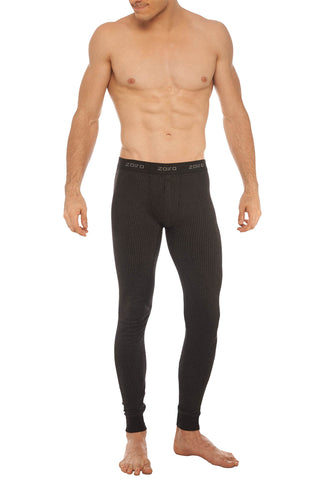 Zoiro Thermax ZP Mens Waist Band Pant Thermals-Carbon Black