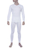 Zoiro Thermax VNFS Mens Full Sleeve V-Neck Thermals-Ivory White