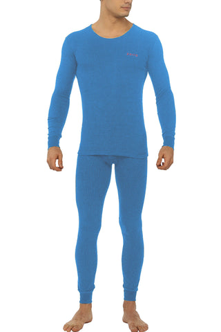 Zoiro Thermax RNFS Mens Full Sleeve Round Neck Thermals-Flame Blue
