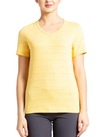 Jockey Women's Round Neck Printed Banana Cream T-Shirt-AW13