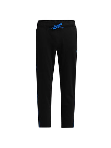 Jockey Boy's Black & Neon Blue Regular Fit Sports Track Pant-AB13