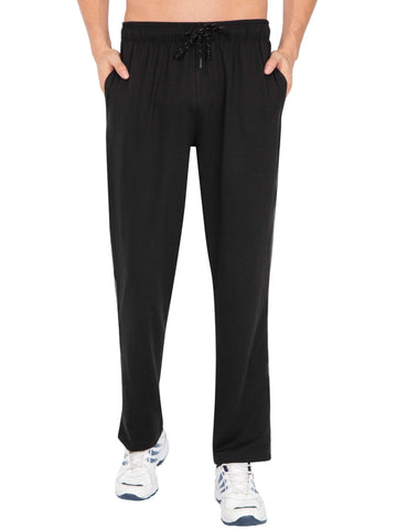 Jockey Men's Track Pant Black Regular Fit-9500