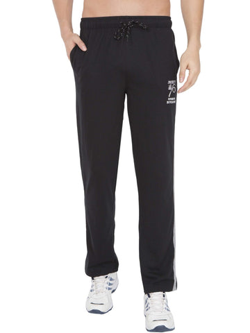 Jockey Men's Black & Grey Melange Track Pant Stright Fit-9508