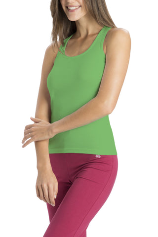 Jockey 1467 Women's premium Cotton Racer Back-Lively Green