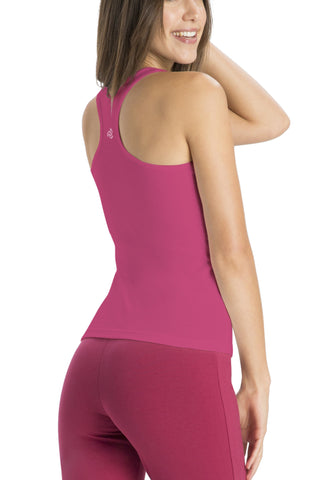 Jockey 1467 Women's premium Cotton Racer Back-pop pink