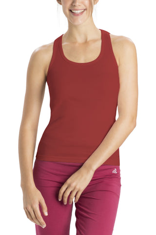 Jockey 1467 Women's premium Cotton Racer Back-Burnt Orange