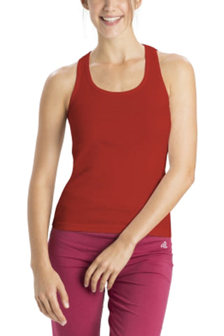 Jockey 1467 Women's premium Cotton Racer Back-Shanghai Red
