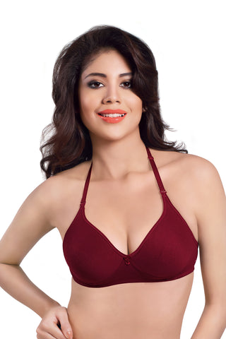Sonari Women's Full Coverage T-Shirt Bra, Catwalk-Maroon