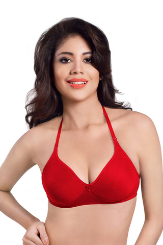 Sonari Women's Full Coverage T-Shirt Bra, Catwalk-Red