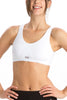 Jockey 1376 Women's Seamless Cotton Non Padded Sports And T-Shirt Bra-White