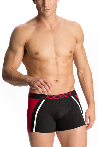 Jockey US21 Men's Premium Cotton Boxer Trunk-Black