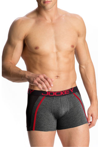 Jockey US21 Men's Premium Cotton Boxer Trunk-Charcoal Melange