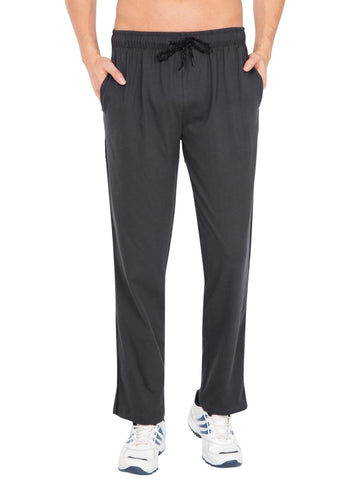 Jockey Men's Track Pant Graphite & Black Regular Fit-9500