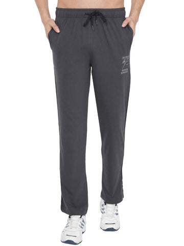 Jockey Men's Graphite & Black Track Pant Stright Fit-9508