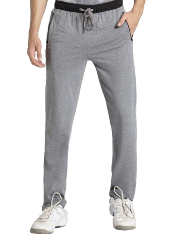 Jockey Men's Grey Melange & Black Sports Track Pant Slim Fit-9510