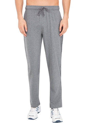 Jockey Men's Track Pant Grey Melange & Navy Regular Fit-9500