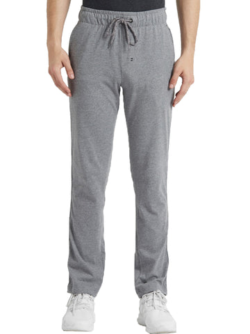 Jockey Men's Grey Melange Active Track Pant Slim Fit-9501