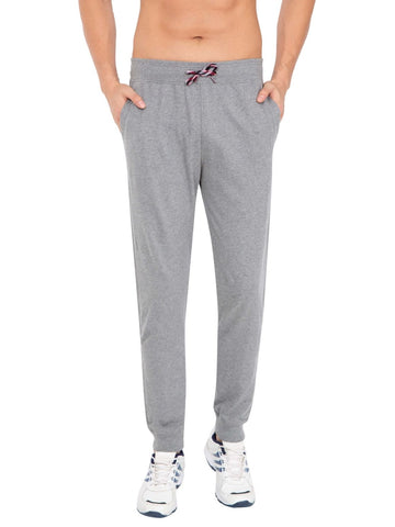 Jockey Men's Cotton Grey Melange Jogger Slim Fit-US90