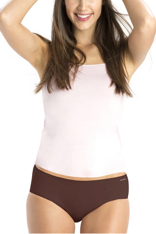 Jockey 1802 Seamless lycra Elastic Panties-Brown