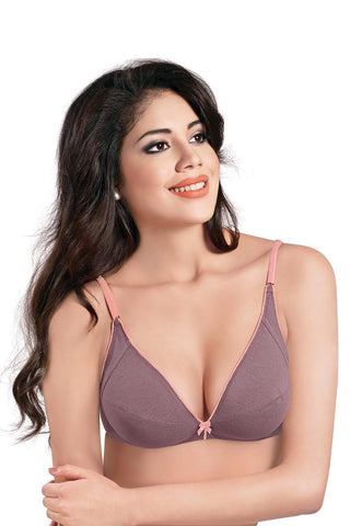 Sonari Women's Double Layer Low Cut Saree Bra,Laxi-Wine