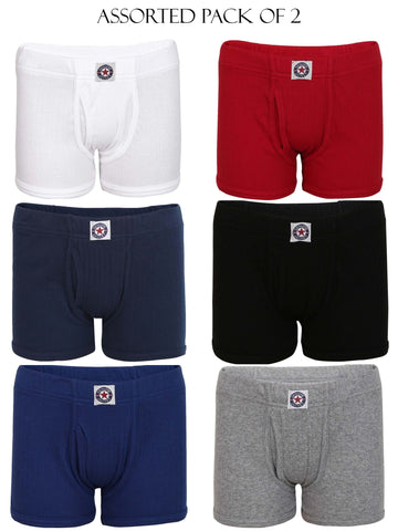 Jockey Assorted Boy's Premium Cotton Trunk Pack Of 2-3036