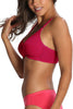 Jockey 1242 X-Cite Women's Cotton Full Figure Saree Bra-Red Love