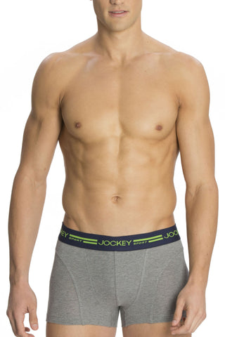 Jockey SP04 Men's Premium Cotton Boxer Trunk-DK Grey Mel