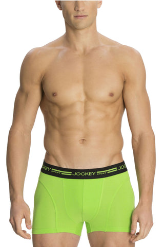 Jockey SP04 Men's Premium Cotton Boxer Trunk-PF Green