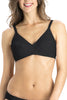 Jockey 1271 Kimberly Women's Cotton Non Padded Low Cut Saree Bra-Black