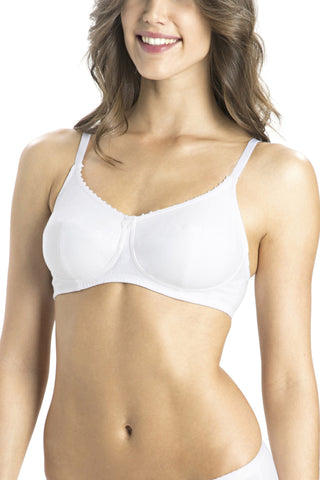 Jockey 1615 Laleez Women's Cotton Full Figure Saree Bra-White